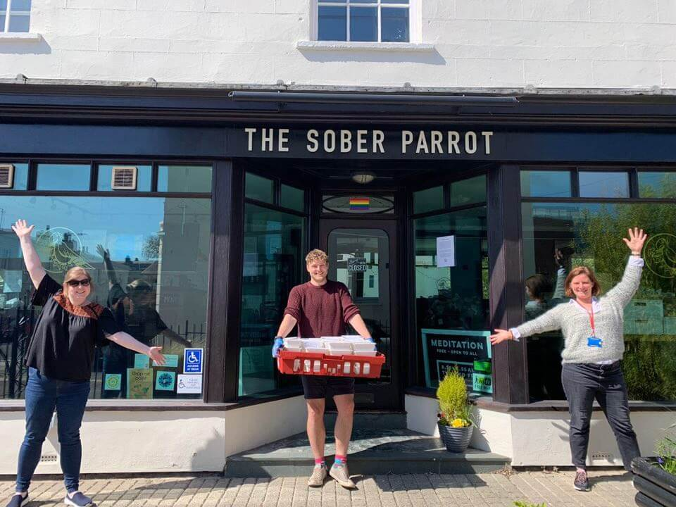 The Sober Parrot providing community meals during COVID-19 lockdown